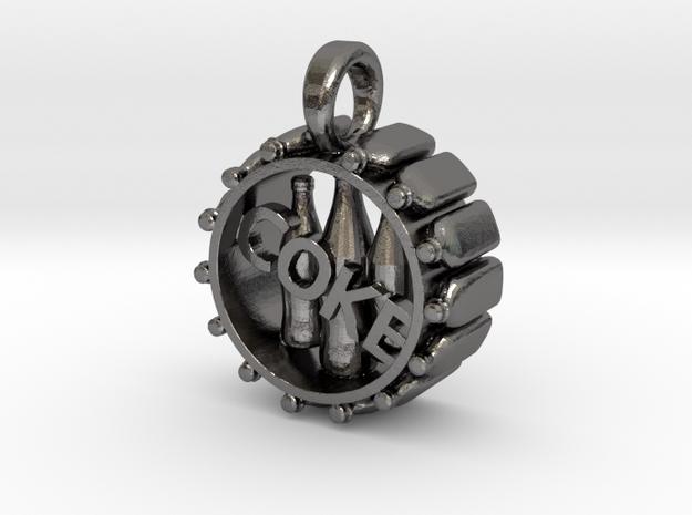 COKE pendant in Polished Nickel Steel