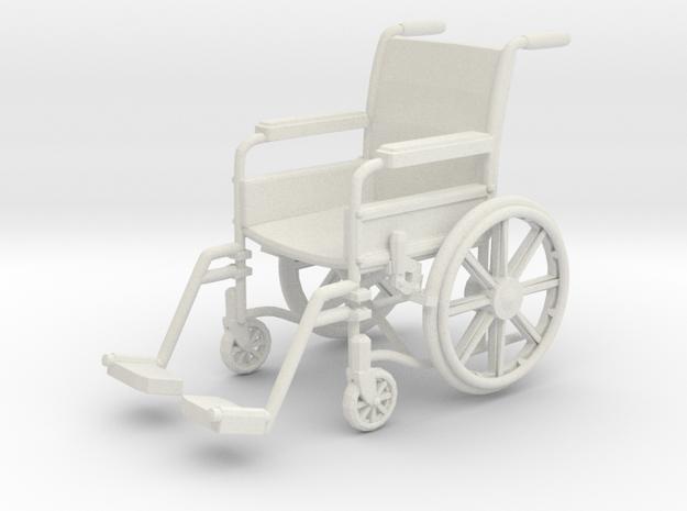 Wheelchair 01. 1:24 Scale in White Natural Versatile Plastic
