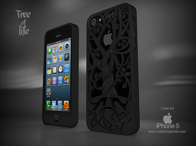 "Iphone 5, 5S case ""Tree of life"" 3d printed"