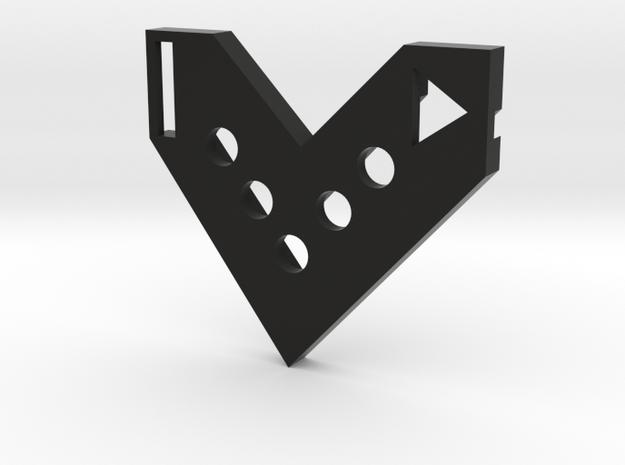 FlyingV-badge2 in Black Natural Versatile Plastic