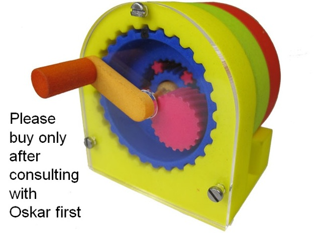 Extreme Reduction - 11 million to one gearing in White Processed Versatile Plastic