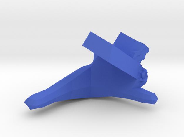 Cleromancy Token- Humanity/City/Building  in Blue Processed Versatile Plastic