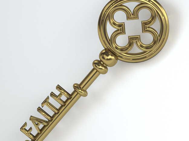 The Key To Faith 3d printed