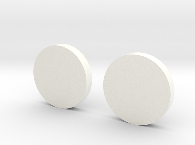 White Lantern Cuff Links in White Strong & Flexible Polished