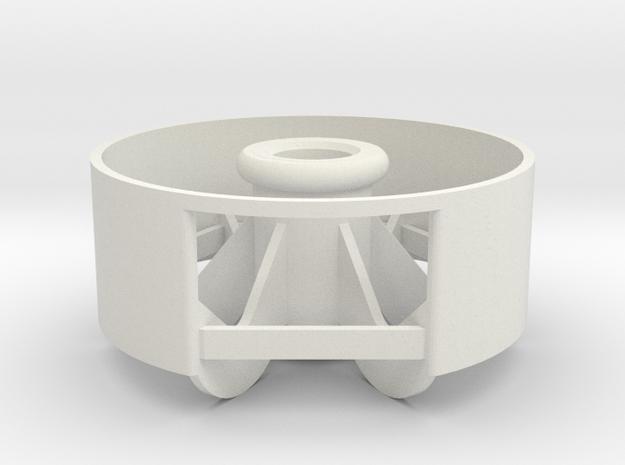 1:9 Mars Rover Wheel in White Strong & Flexible