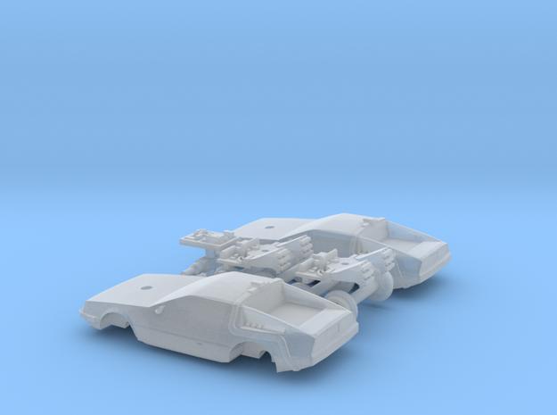 DeLorean Time Machine Train N 1:160 2 Pack in Smooth Fine Detail Plastic