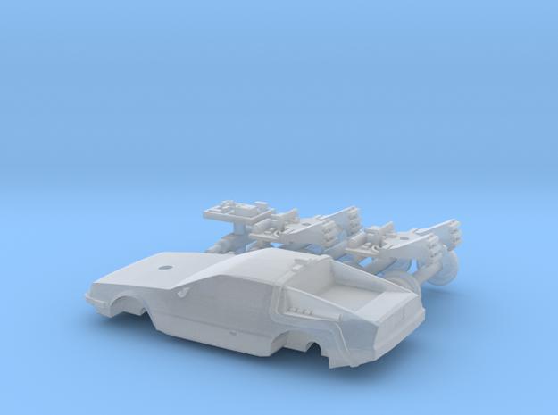 DeLorean Time Machine Train 1:160 in Smooth Fine Detail Plastic