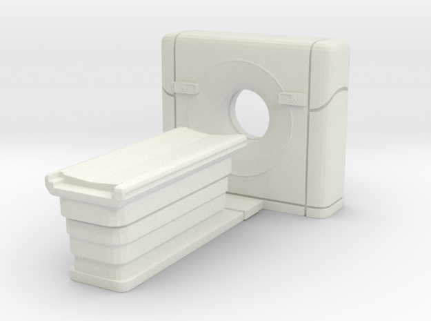 CT Scanner 01. O Scale (1:48) in White Natural Versatile Plastic