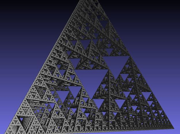 Sierpinski tetrahedron level 7 3d printed