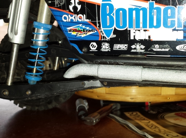 BOMBER RC4WD KING 120mm FAUX BY-PASS SLEEVE PASSEN in White Strong & Flexible