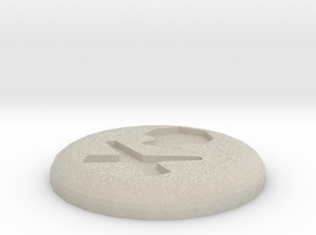 Death Rune in Sandstone