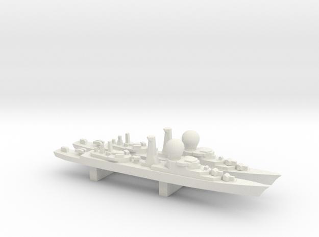 Suffren-Class Frigate x 2, 1/3000 in White Strong & Flexible