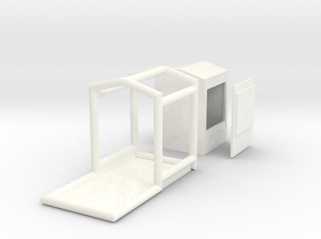 1/87 Dekon Duschzelt in White Processed Versatile Plastic