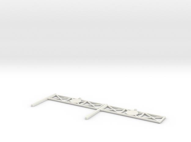L-165-single-level-crossing-gate-x2-1a in White Natural Versatile Plastic
