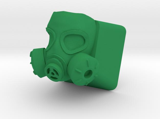 Gas Mask Cherry MX Keycap in Green Processed Versatile Plastic