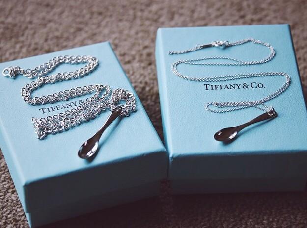 Little Spoon Pendant in Premium Silver