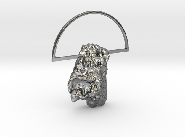 Mars Rock Pendant [metal edition] in Polished Silver