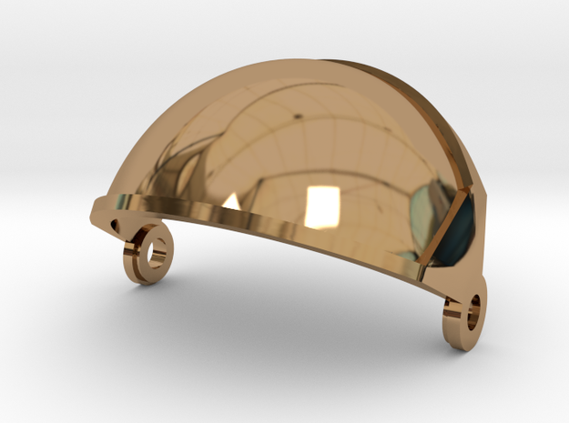Gemini Astronaut  / 1:6 / Helmet Visor in Polished Brass