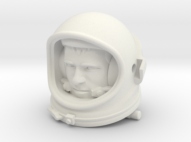 Gemini Astronaut / 1:6 / Helmet, Head Nr 1 in White Strong & Flexible
