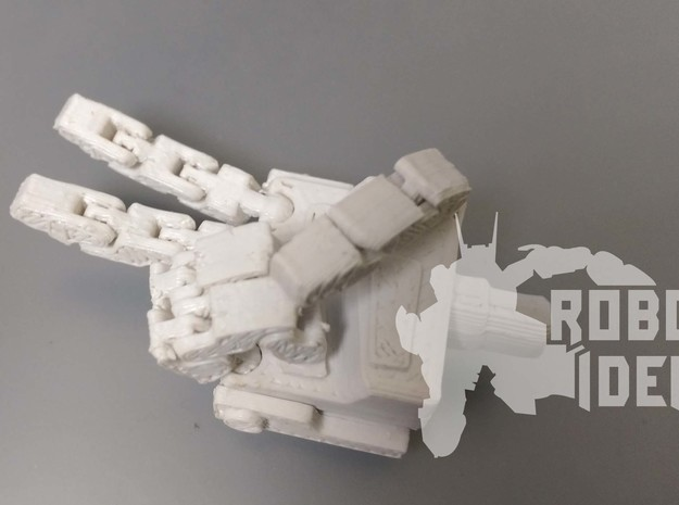 COMBINER FIST L+R in White Natural Versatile Plastic