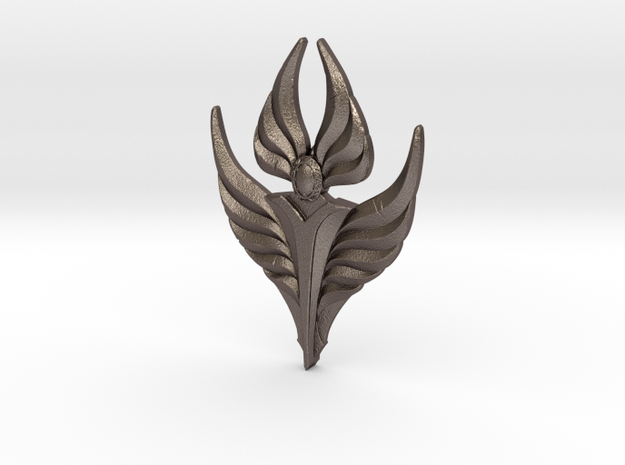 Fire Angel Pendant 02 - 60mm in Stainless Steel
