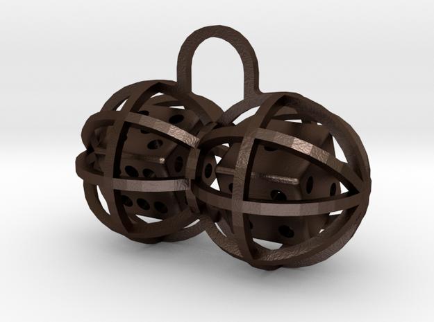 Charm: Lucky Balls in Matte Bronze Steel