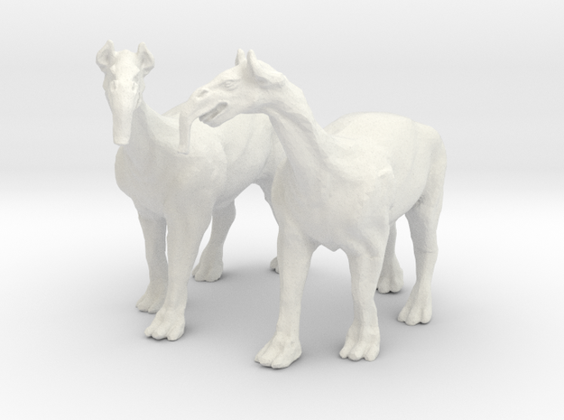Macrauchenia -Fantasy beast of burden for wagons in White Natural Versatile Plastic