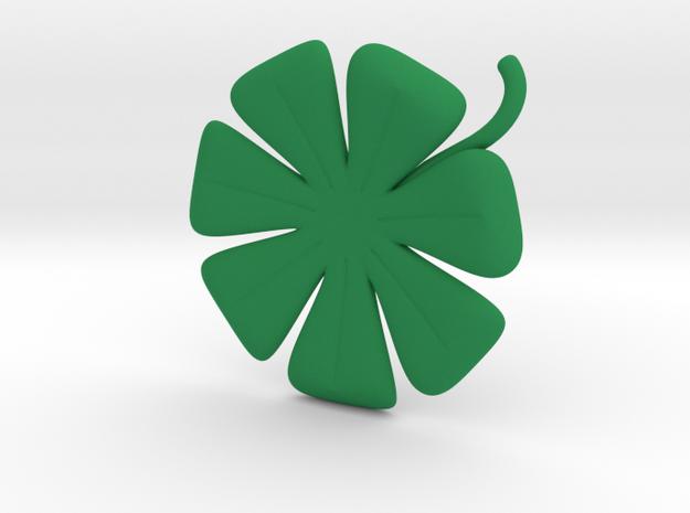 7 Leaf Clover in Green Processed Versatile Plastic