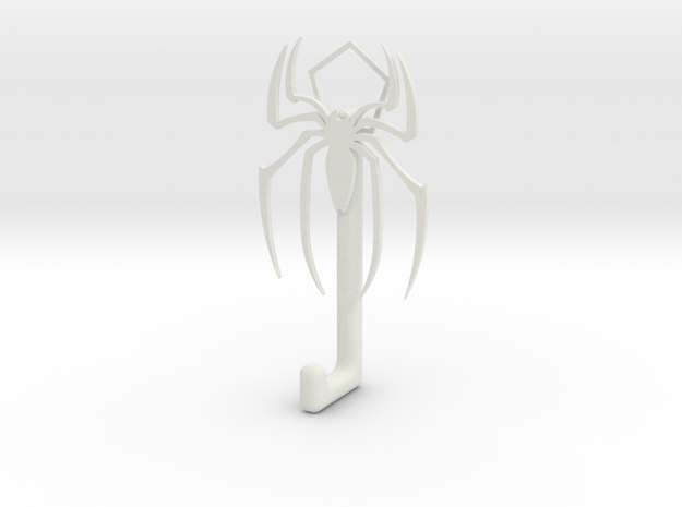 Spiderman Logo hook in White Strong & Flexible