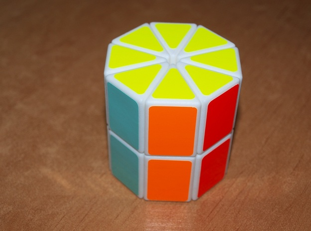 Octo Chop (Half Chop, 16 cube) in White Strong & Flexible