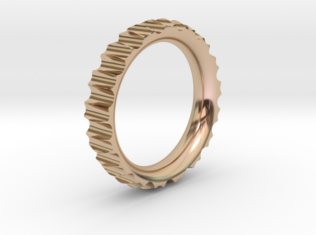 Rln0003 in 14k Rose Gold Plated Brass