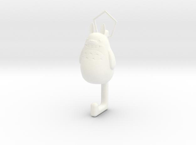 Totoro hook in White Processed Versatile Plastic