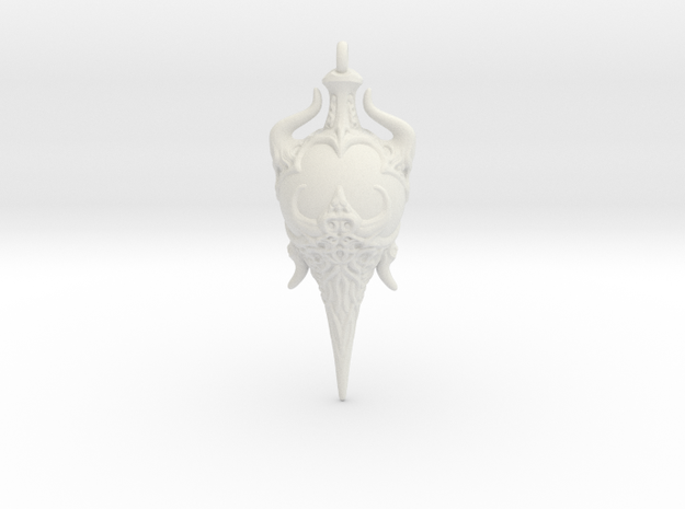 Chaos Amulet 01 - 60mm in White Natural Versatile Plastic