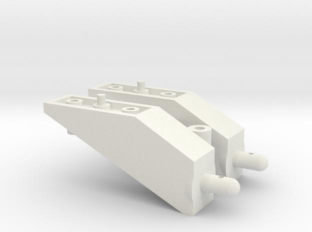 Tamiya Pajero CC01 5mm Body Lift Kit in White Strong & Flexible