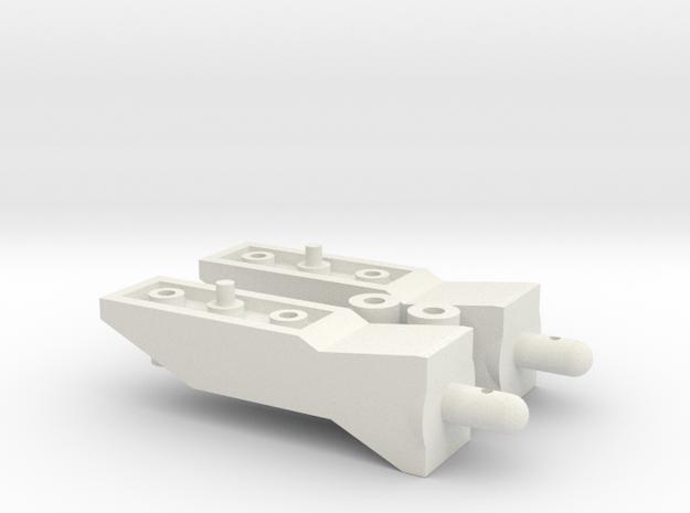 Tamiya Pajero CC01 15mm Body Lift Kit in White Strong & Flexible