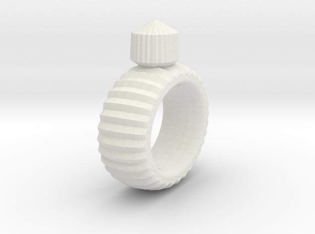 Craft Ring in White Natural Versatile Plastic