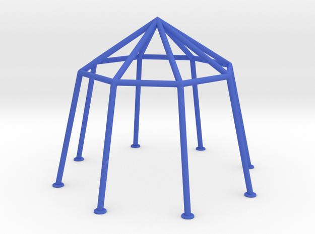 Tent Frame 8-angular reinforced in Blue Processed Versatile Plastic
