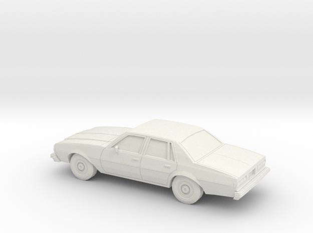 1/87 1977-78 Chevrolet Impala Sedan in White Natural Versatile Plastic