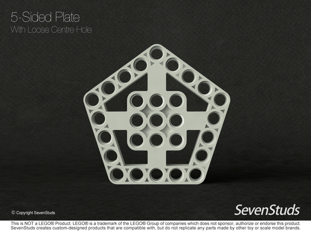 5 Sided Frame - Type B in Black Natural Versatile Plastic