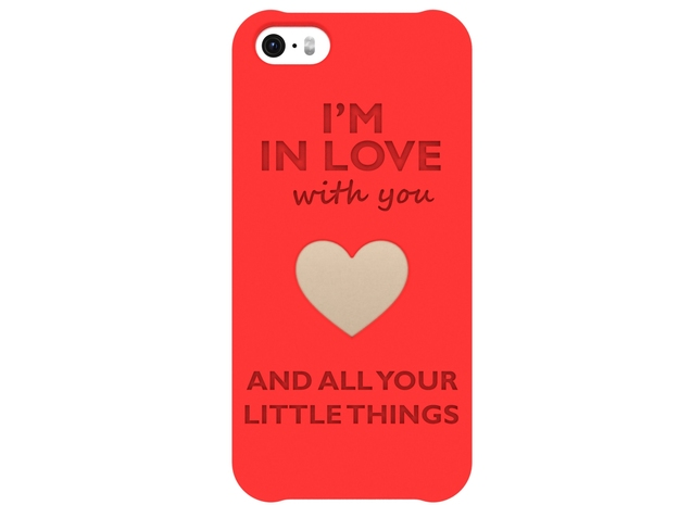 iPhone 5/5s/SE_Love case in Red Strong & Flexible Polished