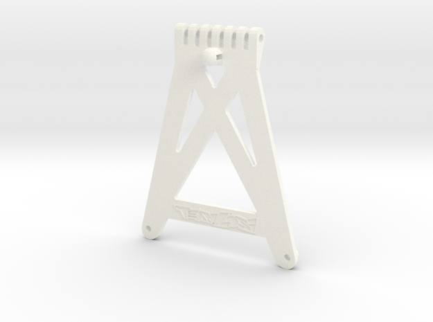 Losi XX and XX-T Front Chassis Stiffener A-4110 in White Strong & Flexible Polished