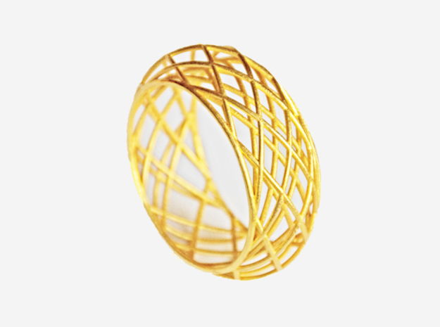 Circle Bracelet Bold in Polished Bronze Steel