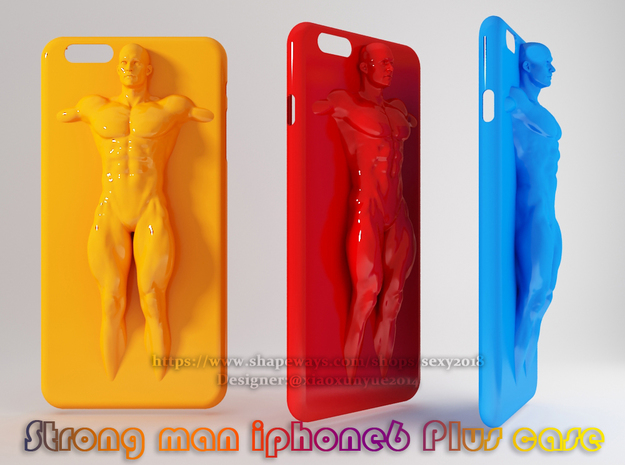 IPhone6 Plus Case Strong Man 001