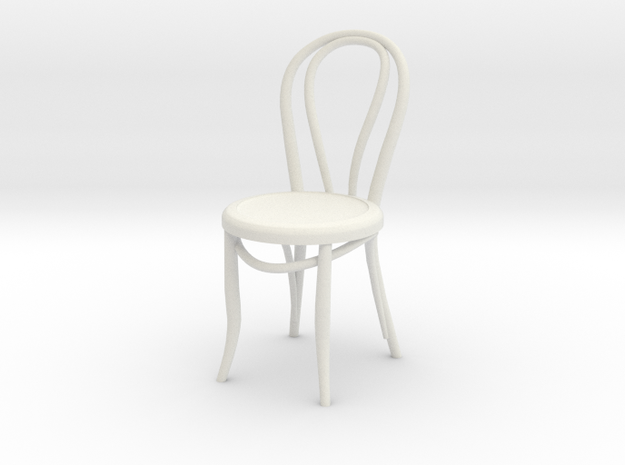 1:24 Thonet Chair 1 (Not Full Size) in White Strong & Flexible