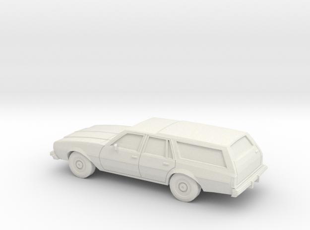 1/87 1977-78 Chevrolet Impala Station Wagon in White Natural Versatile Plastic