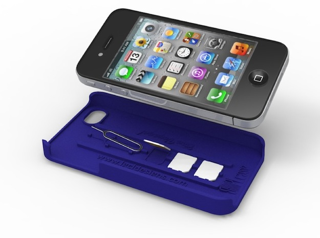 SIMPLcase - iPhone 4 / 4s case for travelers in White Strong & Flexible