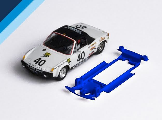 1/32 SRC Porsche 914 Chassis for Slot.it IL pod in Blue Processed Versatile Plastic