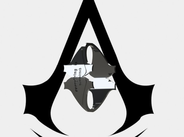 Assassin's Creed MOTO-CREED Ring (size 10) 3d printed