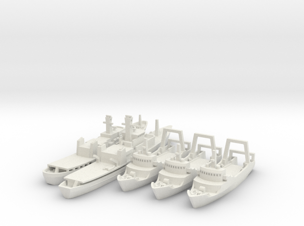 Cod War Set 2 1:700/600 in White Natural Versatile Plastic: 1:700