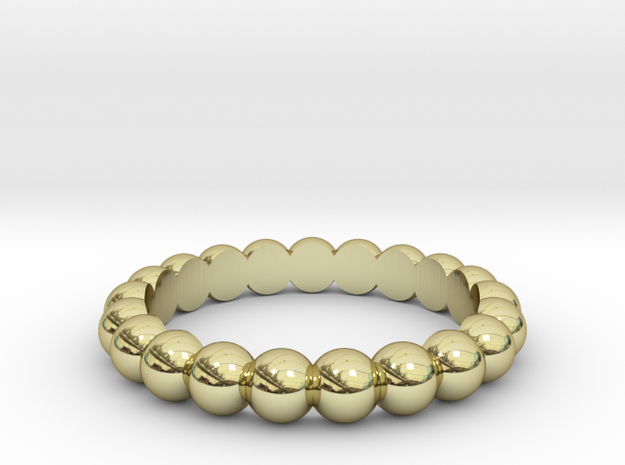 Inter-Sphere Ring in 18k Gold Plated Brass: 8 / 56.75